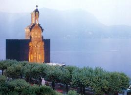 Modello in legno in scala 1:1 del San Carlino alle quattro fontane a Lugano, Mario Botta