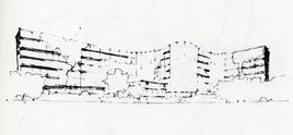 Alvar Aalto, Baker House, 1947  – schizzo