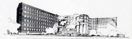 Alvar Aalto, Baker House, 1947 – prospettiva