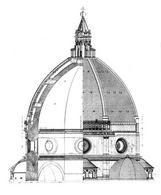 Cupola di Santa Maria del Fiore, sezione e prospetto