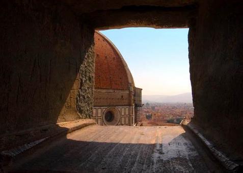 Cupola di Santa Maria del Fiore, scorcio singolare