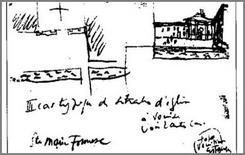 Schizzo di Le Corbusier raffigurante Santa Maria Formosa.