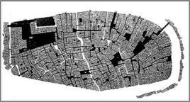 Il sistema della circolazione a Venezia in La Ville Radieuse, 1935