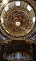 Francesco Borromini, interno della cupola di Sant'Agnese in Agone a Roma, 1653-1657.