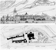 Theodor Fischer, Projekt zur Bebauung der Kohleninsel, Monaco, 1900.