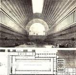 Progetto per la Biblioteca nazionale di Parigi, 1784, da E.L.B.Architecture