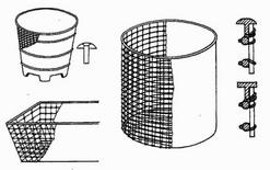 J. Monier, vasi in cemento armato (1850). Fonte: Tecnologos