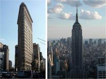 Grattacieli a New York: Flatiron, 1902; Empire State Building, 1931. Fonte: foto R. Landolfo