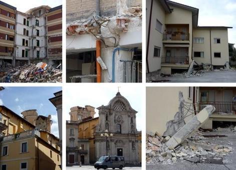 Terremoto de L'Aquila, 6 aprile 2009. Fonte: foto R. Landolfo