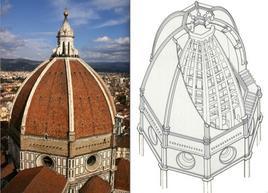 La cupola del Brunelleschi, S. Maria del Fiore, Firenze – 1436. Fonte: Wikipedia e da Gramma