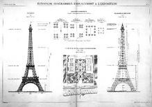 La Tour Eiffel, Esposizione Universale Parigi 1889. Fonte: Wikimedia
