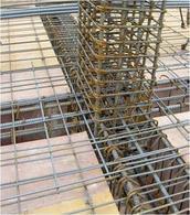 Disposizione delle armature metalliche in un nodo trave-colonna