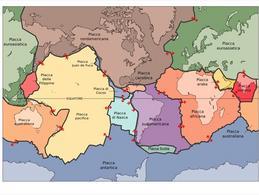 Mappa delle placche tettoniche della Terra. Fonte: Wikipedia