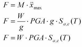Calcolo della forza sismica