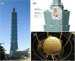 Es. di struttura a controllo attivo: Taipei tower 101. Fonte: Wikimedia Commons 4; 5; 6