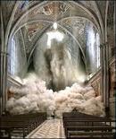 Terremoto Umbria – Marche, 26 settembre 1997, Basilica di S.Franceso, Assisi. Fonte: Meteo Web