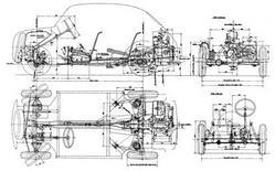Il disegno tecnico di un'autovettura ossia di un  assieme.
