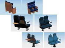 Prototipi virtuali dei tre sedili completi di accessori sviluppati in ambiente CAD.