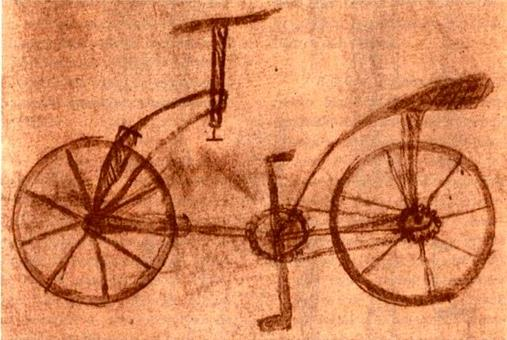 La bicicletta di Leonardo (Codice atlantico, foglio 48 – verso).