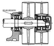 Il disegno tecnico di un complessivo mostra le parti nella posizione relativa di funzionamento (fonte: Speluzzi e Tessarotto, 1958)