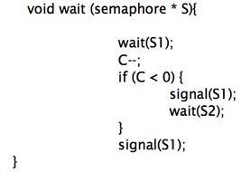 Codice relativo al comando wait