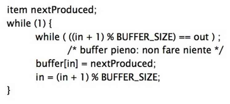 Codice del processo produttore