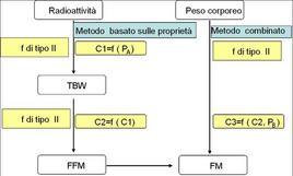 Diluizione isotopica e determinazione del peso corporeo come metodo combinato per determinare la massa grassa