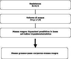 Determinazione della massa grassa a partire dalla resistenza (o impedenza).