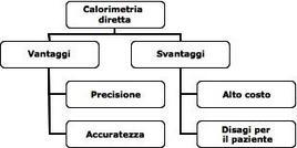 Svantaggi e vantaggi della calorimetria diretta.