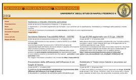 Il portale web del Servizio di Prevenzione e Protezione dell'Università Federico II