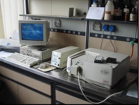 Uno spettrometro UV/Vis