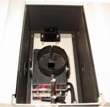 L'interno dello spettrometro con l'alloggiamento per la cuvetta