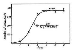 Figura 10.6: Esperimenti di Gause su di una popolazione di Paramecium caudatum.