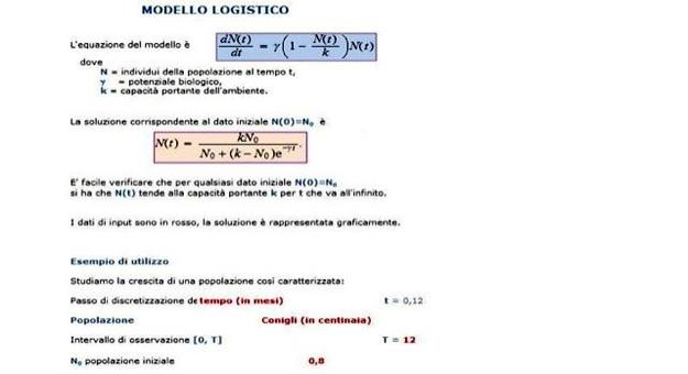 Figura 11.3: Foglio Excel Logistico.xls
