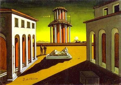 Giorgio de Chirico, Piazza d'Italia (1915). Fonte Art Knowledge News.
