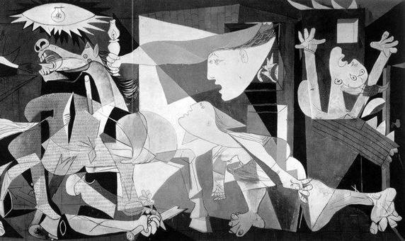 Pablo Picasso, Guernica, (1937). Fonte: wikipedia