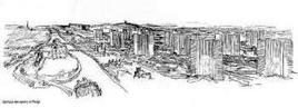 """Le Corbusier, """"Plan Voisin"""" per Parigi (1922-25). Fonte A. Marino: uniroma3"""