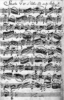 J.S. Bach, Sonata per violino No. 1 in Sol minore (BWV 1001). Fonte: wikipedia