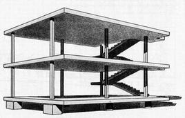 Le Corbusier, Maison Domino (1914-1915). Fonte: Politecnico di Bari