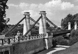 """Il ponte borbonico """"Real Ferdinando"""" sul Garigliano. Fonte: Università degli Studi di Napoli"""