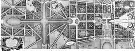 La Reggia di Versailles, pianta del parco. Fonte wikipedia.