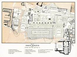 Pianta del Foro Romano del 1904. Tratta da: wikimedia