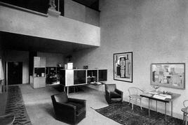 Le Corbusier, Padiglione dell'Esprit Nouveau, interno, Parigi, 1925. Tratta da: politecnico di Torino