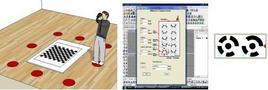 Calibrazione della fotocamera digitale e markers codificati.  Fonte: RhinoPhoto, software disponibile presso il Laboratorio CREA.