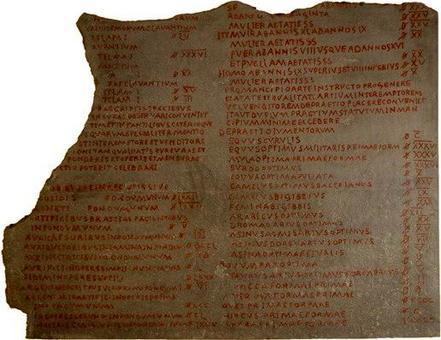 Frammento dell'edictum de pretiis rerum venalium