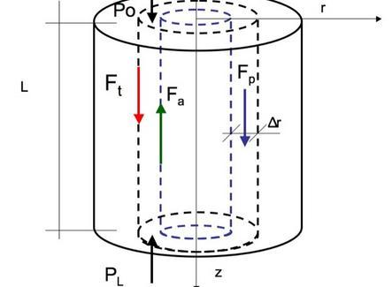 Bilancio di forze: P0 + Fp + Ft = PL + Fa