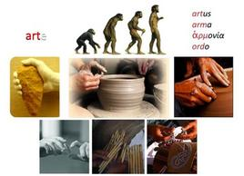 "Etymology of the word ""art"". Images modified by Donatella Mazzoleni."