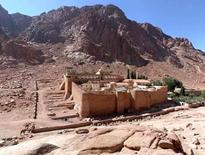 St. Catherine's monastery, VI century, at the foot of Mount Oreb, Sinai (Egypt). From: UNESCO