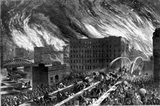 John R. Chapin, The great fire of Chicago, 1871.