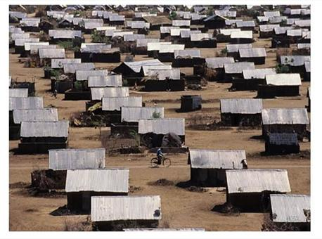 A refugee camp. Source: Radio Palaia